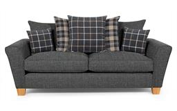Harry 3 Seater Sofa Scatter Back, Valentino Collection Charcoal Option 1, small