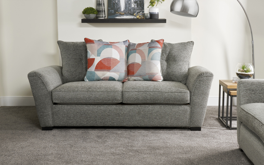 Inspire Rockcliffe 3 Seater Sofa Scatter Back, , large