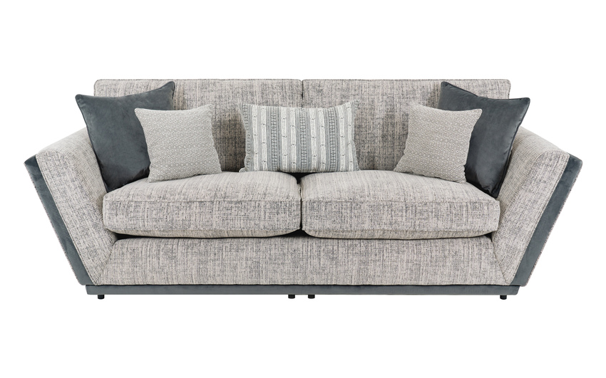 Antwerp 3 Seater Sofa, Helena Collection Silver/1, large