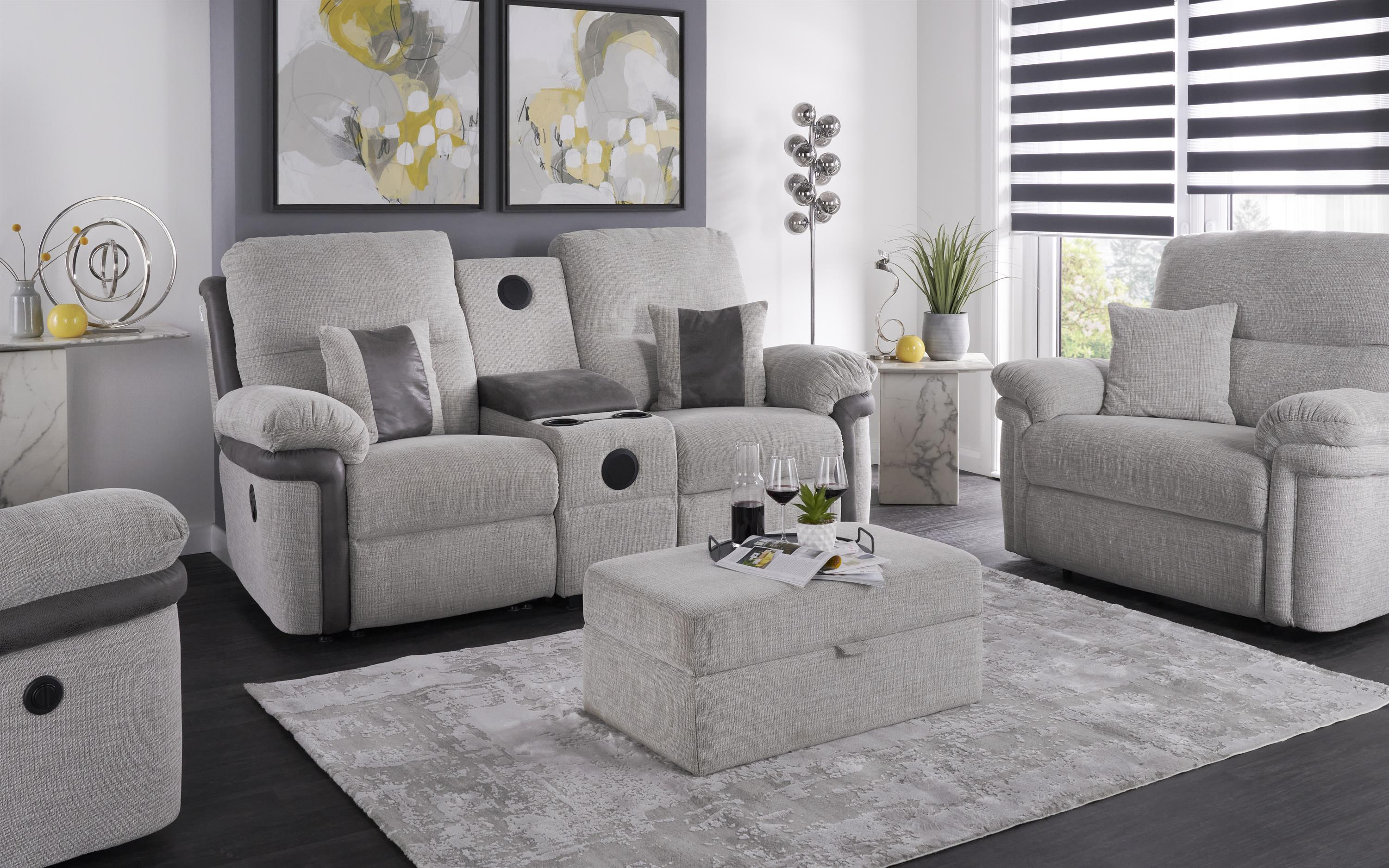 La-Z-Boy Nevada 3 Seater Manual Recliner Sofa With Sound, , large