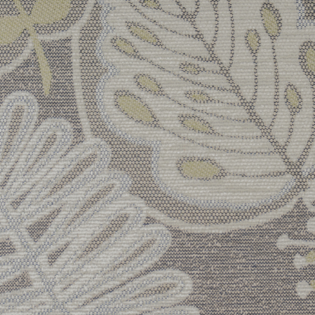 8407 Silver/Lime Botanic Chenille